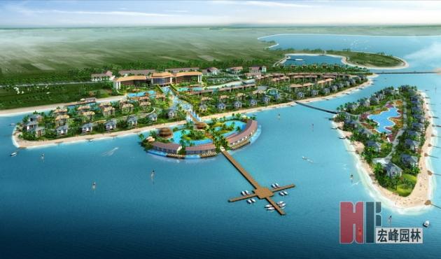 河岸绿化设计