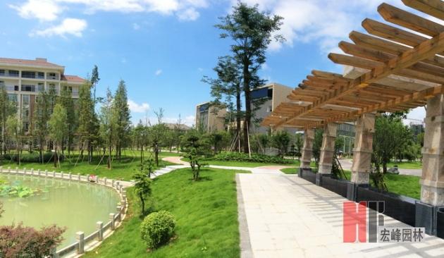 伟德国际1964市医学院临桂校区荷花塘景观设计