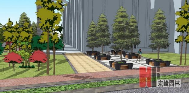 伟德国际1964市医学院临桂校区学生活动中心景观设计