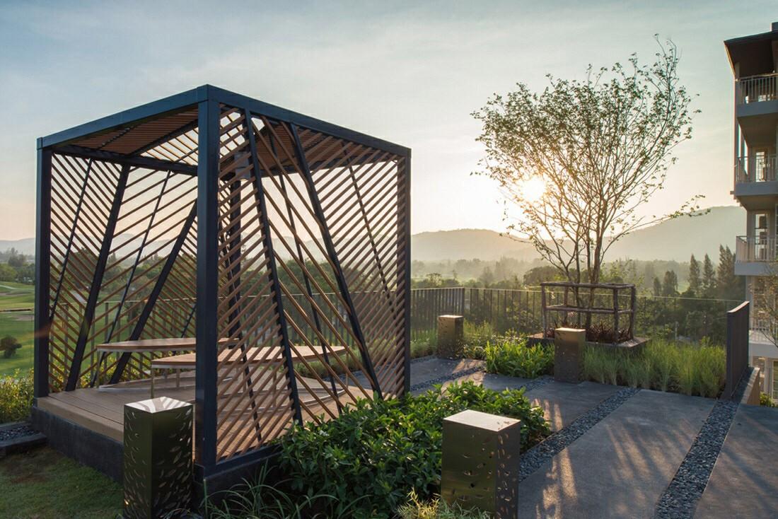 层公寓大厦做一个景观设计方案